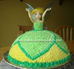 Homemade Tinkerbell Cake: This is only the second cake I've ever made. It was made with lots of love (and lots of time!) for my little girl's 8th birthday which is in August and