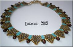 necklace inspiration; two-hole beads and tila beads