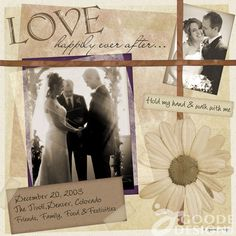 Love happily ever after....  So simple, I love it!
