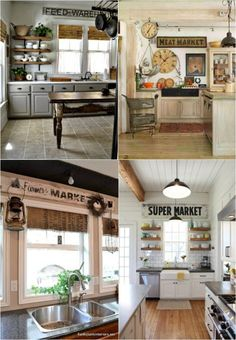 Vintage kitchen signs and kitchen layouts