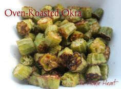 I love oven roasted veggies. It is my favorite way to enjoy all vegetables in a fresh and delicious way. I want to know that when I'm eating vegetables that I haven't cooked all their nutrients awa. Oven Roasted Okra, Baked Okra, Roasted Veggies In Oven, Baked Vegetables, Okra Recipes, Vegetable Recipes, Cooking Recipes, Healthy Recipes, Kitchens