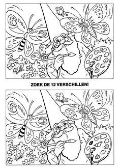 Zoek De Verschillen Sprookjes Prinses Op De Erwt Pinterest