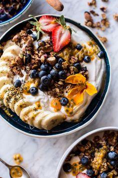 Blueberry Muffin Granola Greek Yogurt Breakfast Bowl | http://halfbakedharvest.com /hbharvest/