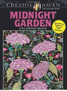 5-18-16 I started coloring in my latest coloring book today. Midnight Garden. It has some really great designs.