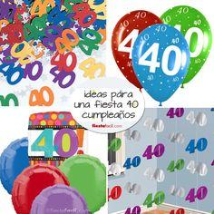 Ideas para la fiesta 40 cumpleaños, en www.fiestafacil.com! / Ideas for a 40th birthday party, in www.fiestafacil.com!