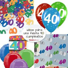 Ideas para la fiesta 40 cumpleaños, en www.fiestafacil.com! / Ideas for a 40th birthday party, in www.fiestafacil.com!