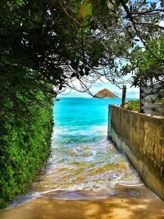Beach Access in Lanikai, Oahu, Hawaii.........I will be finding this place in OCTOBER!!! :)