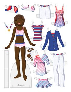 Paper dolls by Julie Allen Matthews.  An Olympic inspired paper doll to download!