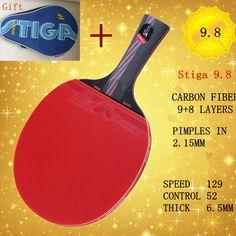 Mejor calidad profesional mango largo y corto apretón de manos apretón de la raqueta de tenis de mesa raqueta de ping-pong paddle murciélagos de goma