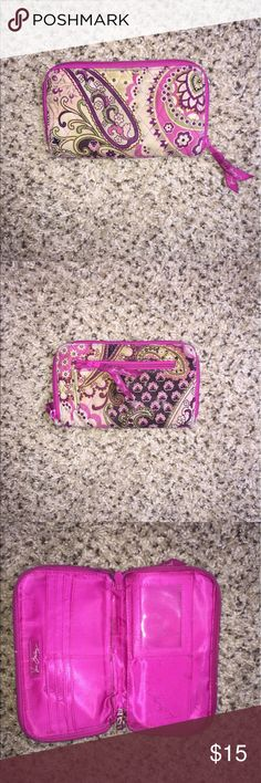 Vera Bradley Wallet Floral pink pattern. Slots for credit cards and cash and id Vera Bradley Bags Clutches & Wristlets