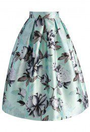 List of fashion designers Garden of Peony Printed Midi Skirt - Skirt - Bottoms - Retro, Indie and Unique Fashion Chicwish Skirt, Peony Print, Calf Length Skirts, Led Dress, Cute Skirts, Printed Skirts, Unique Fashion, Blouses For Women, Midi Skirt