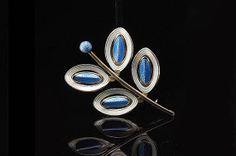 Vintage Holmsen Norwegian Sterling Enamel Blue by EtsyClassic, $110.00