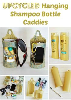 Project Sunlight Re-Think Recycling: Upcycled Shampoo Bottle Caddies #UnileverSavesMore #ad #green #upcycled