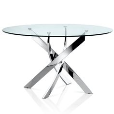Shop for a Utopia Modern Round Dining Table at SoBe: Your Premier South Florida Source for a Contemporary Dining Table. Round Dining Table Modern, Round Glass Coffee Table, Glass Top Dining Table, Contemporary Dining Table, Pedestal Dining Table, Extendable Dining Table, Dining Table In Kitchen, Dining Tables, Dining Rooms