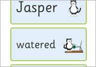 Jasper's Beanstalk Word Cards