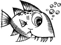Monster Fish Little Coloring Pages