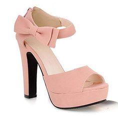 Oferta: 16.63€. Comprar Ofertas de Mine Tom Mujer Chicas Sandalias Elegantes Sandalias De Tacón Alto Con Bowknot Peep Toe Zapatos Rosa 39 barato. ¡Mira las ofertas!