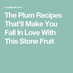 The Plum Recipes That'll Make You Fall In Love With This Stone Fruit
