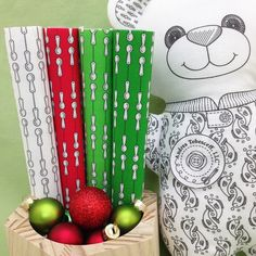 """Introducing """"Cooking Spoons"""" fabrics in four color versions. The stripes are vertical with staggered ½ inch tall measuring spoons. They would make fun coordinates for your Christmas fabrics.  """"Cooking Spoons"""" can be ordered in my Spoonflower shop. Link in Profile."""