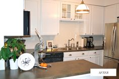 The CHICago Life Blog | Amelia's DIY Kitchen Renovation. White cabinets make a huge difference!