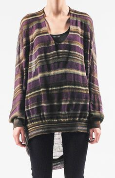 I don't love the colors but I love the idea Striped Cocoon Pullover  by VPL