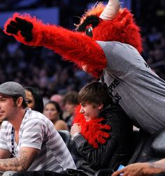 Benny the Bull and Justin Bieber