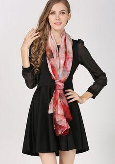 Elegantná hodvábna dámska šatka - 180 x 110 cm - vzor 5 Silk Scarves, Satin, Women's Fashion, Elegant, Outfit, Beauty, Dress, Scarves