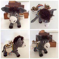 Punkie my sweet donkey, crochet by me