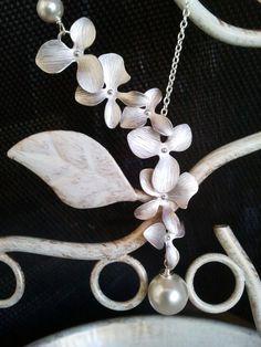 EASTER SALE  Dangling Triple Orchids Flowers