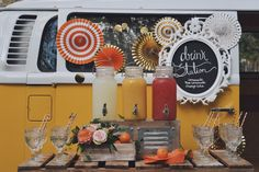 Drink station, Garden roses, citrus decor, girl first birthday party, baby shower, floral arrangements, peonies and roses, orange themed party, citrus theme party, lemonade stand, juice stand