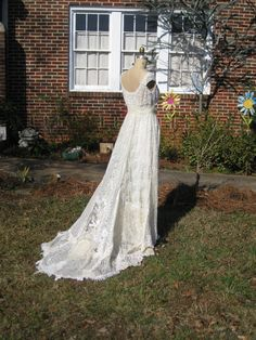 Ivory Hippie Lace Collage Gown One of a KIND. $1,195.00, via Etsy.
