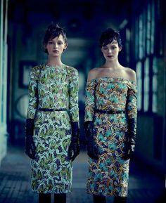 Kinga Rajzak and Daga Ziober by Boo George for T Style, Spring 2012 | wannafeelit