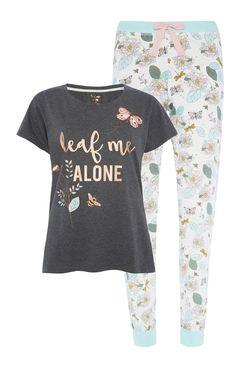 Primark - Leaf Me Alone Pyjama Set Cute Pjs, Cute Pajamas, Girls Pajamas, Pajamas Women, Loungewear Outfits, Pajama Outfits, Cute Lazy Outfits, Teen Girl Outfits, Pajama Set