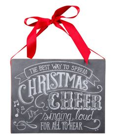 Look what I found on #zulily! 'Christmas Cheer' Chalk Wall Sign #zulilyfinds