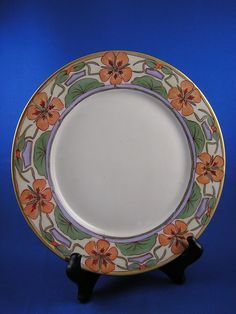Henrietta Barclay Paist | Haviland Limoges Art Nouveau Nasturtium Plate (c.1894-1931) from ...
