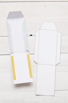 Nice Party tutorial DIY plantilla descargable sobre Free printable envelope