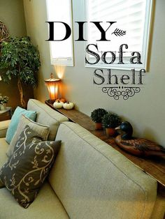 Diy Sofa Shelf - Easiest Solution For A Common Problem