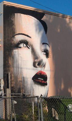Mural In Wynwood, Miami Murals Street Art, Graffiti Murals, Miami Street Art, Art Wynwood, L'art Du Portrait, Art Rules, Best Graffiti, Illusion Art, Stencil Art