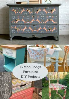 15 DIY Mod Podge Furniture Projects