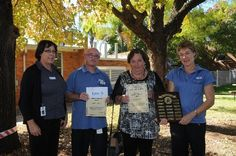 Acting director of nursing at Dubbo Base Hospital Jenny Johnson (left) congratulates its Nurse of the Year Maria McGinness (right) and runners-up Adam Eveleigh and Leonie Walker.