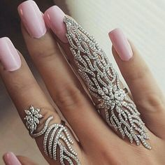 While these nails are fabulous...the RINGS are what I'm looking at!