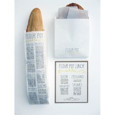 Hand lettered menu packaging. A little too cluttered, for me, but I love how much info it conveys to consumer.