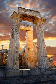 The Doric Temple of Aphaia , Aegina island, Greece by Keytours, via Flickr