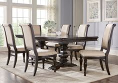 Westerleigh Oak 7 Pc Rectangle Dining Room .1359.99. Find affordable Dining Room Sets for your home that will complement the rest of your furniture. #iSofa #roomstogo