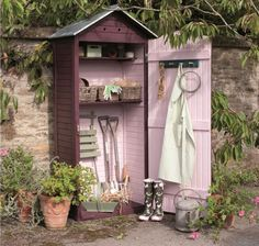 31 Wonderful Unique Small Storage Shed Ideas For Your Garden. If you are looking for Unique Small Storage Shed Ideas For Your Garden, You come to the right place. Below are the Unique Small Storage S. Wood Shed Plans, Diy Shed Plans, Storage Shed Plans, Garden Tool Storage, Garden Tools, Small Garden Tool Shed, Diy Shed Kits, Shed Interior, Shed Organization