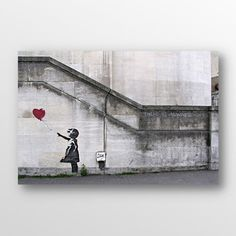 new wall decor!    There Is Always Hope Balloon Girl by Banksy