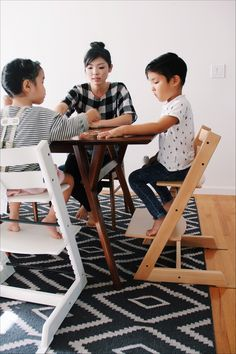 [ad] Tripp Trapp chair by Stokke brings baby to the family table.