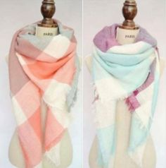 These are gorgeous and well made blanket scarves in beautiful colors. They make wonderful gifts!