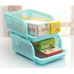 New Kitchen Plastic Spice Rack Refrigerator Food Cans Holder Kitchen Organizer