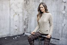 Chervò - Woman golf outfit: Sweater F1603007 Col 290 and Trousers SYMPHONY 20L